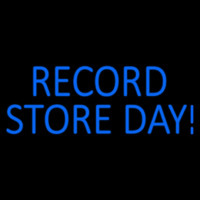 Blue Record Store Day Block Neon Sign