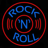 Blue Rock Disc Neon Sign