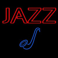 Blue Sa ophone Red Jazz Block Neon Sign