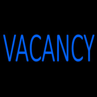 Blue Vacancy Neon Sign