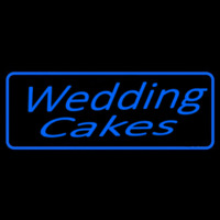 Blue Wedding Cakes Cursive Neon Sign