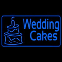 Blue Wedding Cakes Neon Sign