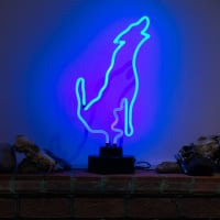 Blue Wolf Desktop Neon Sign