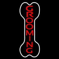 Bone Grooming Vertical Neon Sign