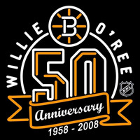Boston Bruins 2007 Anniversary Logo NHL Neon Sign Neon Sign
