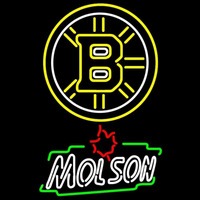Boston Bruins With Molson Canadian Beer Sign Neon Sign