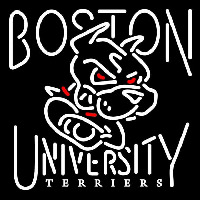 Boston University Terriers Primary 1999 2004 Logo NCAA Neon Sign Neon Sign