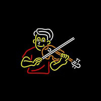Boy Playing Violin Neon Sign