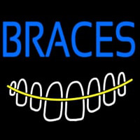 Braces With Teeth Neon Sign