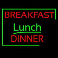 Breakfast Lunch Dinner Neon Sign