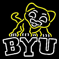 Brigham Young Cougars Misc 1999 Pres Logo NCAA Neon Sign Neon Sign