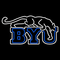 Brigham Young Cougars Primary 1969 1998 Logo NCAA Neon Sign Neon Sign