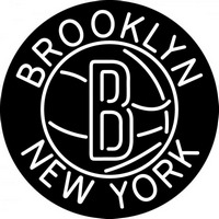 Brooklyn Nets Secondary 2012 13 Pres Logo NBA 3 Neon Sign Neon Sign