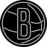 Brooklyn Nets Secondary 2012 13 Pres Logo NBA Neon Sign Neon Sign