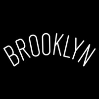 Brooklyn Nets Wordmark 2012 13 Pres Logo NBA 2 Neon Sign Neon Sign