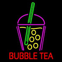 Bubble Tea With Glass Neon Sign