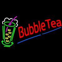 Bubble Tea With Tea Glass Neon Sign