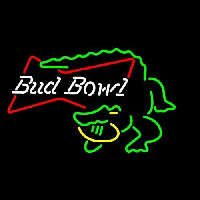 Bud Bowl Alligator Beer Sign Neon Sign