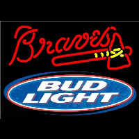Bud Light Atlanta Braves MLB Beer Sign Neon Sign
