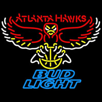Bud Light Atlanta Hawks NBA Beer Sign Neon Sign