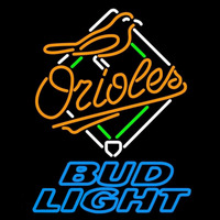 Bud Light Baltimore Orioles MLB Beer Sign Neon Sign