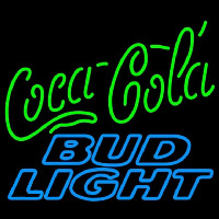 Bud Light Coca Cola Green Neon Sign