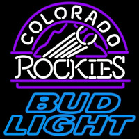 Bud Light Colorado Rockies MLB Beer Sign Neon Sign