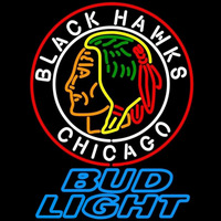 Bud Light Commemorative 1938 Chicago Blackhawks Beer Sign Neon Sign