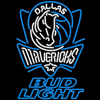 Bud Light Dallas Mavericks NBA Beer Sign Neon Sign