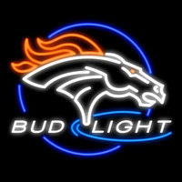 Bud Light Denver Broncos Real Neon Glass Tube Neon Signs Neon Sign
