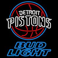 Bud Light Detroit Pistons NBA Beer Sign Neon Sign
