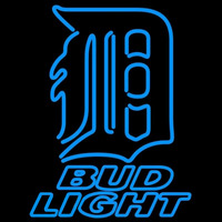 Bud Light Detroit Tigers MLB Beer Sign Neon Sign