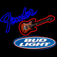 Bud Light Fender Guitar Beer Sign Neon Sign