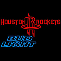 Bud Light Houston Rockets NBA Beer Sign Neon Sign