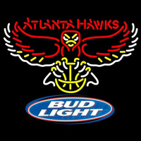Bud Light Logo Atlanta Hawks NBA Beer Sign Neon Sign