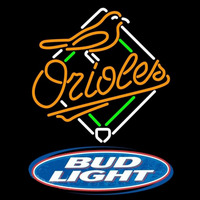 Bud Light Logo Baltimore Orioles MLB Beer Sign Neon Sign