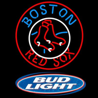 Bud Light Logo Boston Red Sox MLB Beer Sign Neon Sign