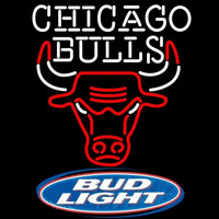 Bud Light Logo Chicago Bulls NBA Beer Sign Neon Sign