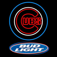 Bud Light Logo Chicago Cubs MLB Beer Sign Neon Sign