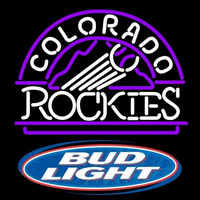 Bud Light Logo Colorado Rockies MLB Beer Sign Neon Sign