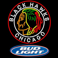 Bud Light Logo Commemorative 1938 Chicago Blackhawks Beer Sign Neon Sign