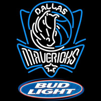Bud Light Logo Dallas Mavericks NBA Beer Sign Neon Sign
