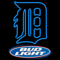 Bud Light Logo Detroit Tigers MLB Beer Sign Neon Sign