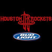 Bud Light Logo Houston Rockets NBA Beer Sign Neon Sign