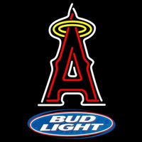 Bud Light Logo Los Angeles Angels of Anaheim MLB Beer Sign Neon Sign