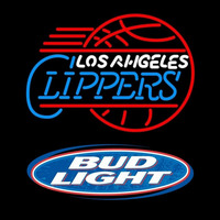 Bud Light Logo Los Angeles Clippers NBA Beer Sign Neon Sign