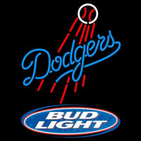 Bud Light Logo Los Angeles Dodgers MLB Beer Sign Neon Sign