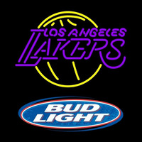 Bud Light Logo Los Angeles Lakers NBA Beer Sign Neon Sign