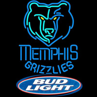 Bud Light Logo Memphis Grizzlies NBA Beer Sign Neon Sign