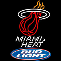 Bud Light Logo Miami Heat NBA Beer Sign Neon Sign